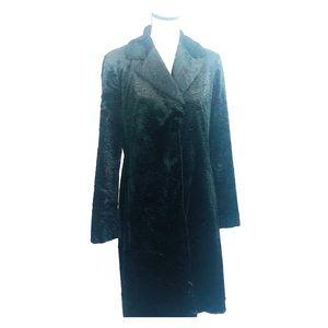 Siena Studio black swirl velvet long coat M